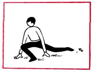 Рис. 1 Бег волоча ногу