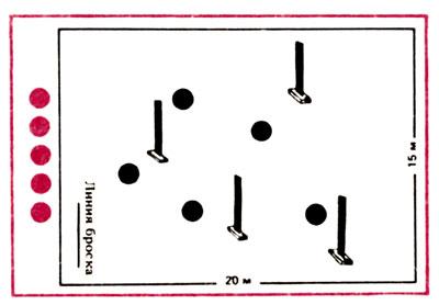 Рис. 5 Лапта с четырьмя столбиками