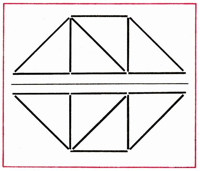 Дорисуй фигуры треугольник и 2 квадрата
