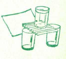 Стакан на бумаге
