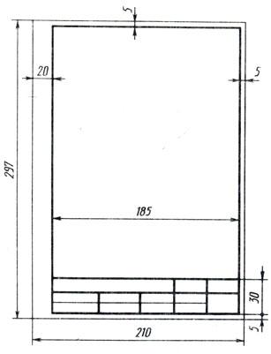 титульный лист по черчению а4 образец