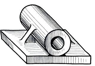 Рис. 104. технический рисунок со штриховкой