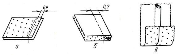 Рис. 39. Изготовление образца двойного шва