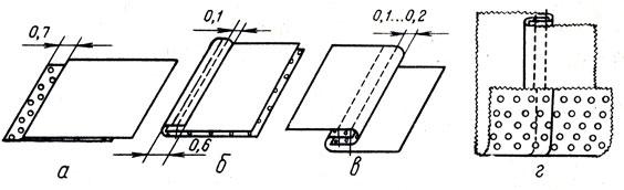 Рис. 40. Изготовление образца запошивочного шва