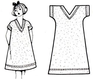 Рис. 52. Разработка фасона ночной сорочки