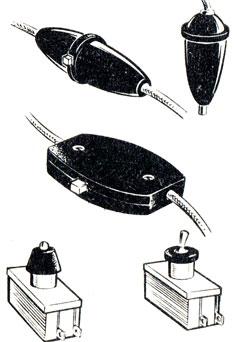 Рис. 83. Выключатели для переносных светильников