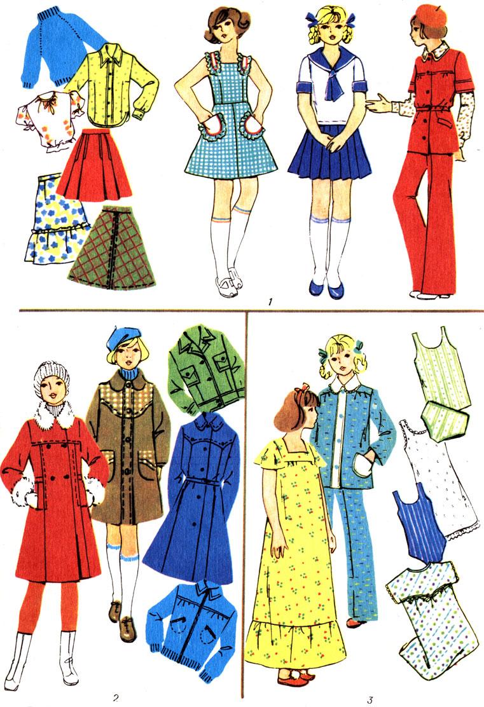 Таблица 4. Классификация одежды: 1 - легкая, 2 - верхняя, 3 - белье