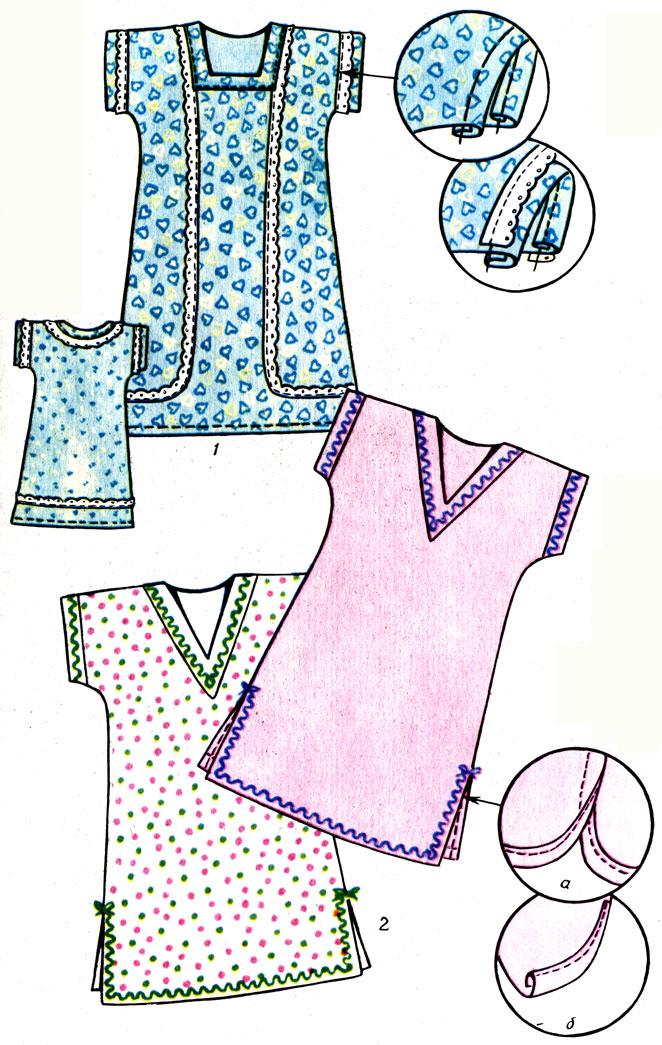 Таблица 9. Образцы сорочек для самостоятельного изготовления