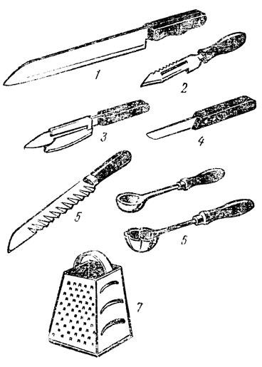 овощей: I - нож кухонный