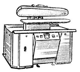 Рис. 50. Пресс пневматический для внутрипроцессной и отделочной влажно-тепловой обработки
