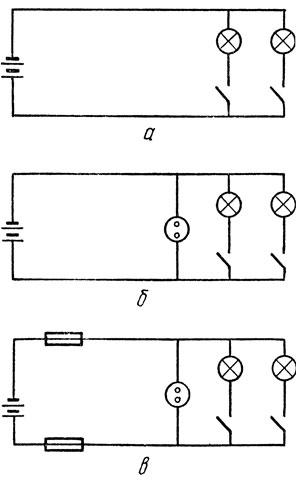 61. Схема разветвленной электрической ...